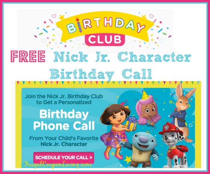 FREE Nick Jr. Character Birthday Call