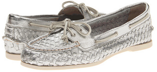 Silver Woven Sperry Top-Sider Sale