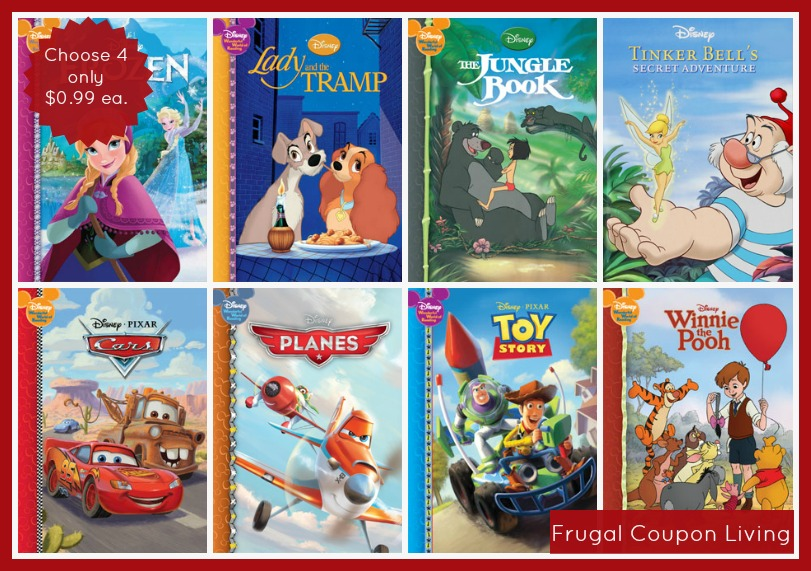 4 Hardcover Disney Storybooks Only 0 99 Each Free