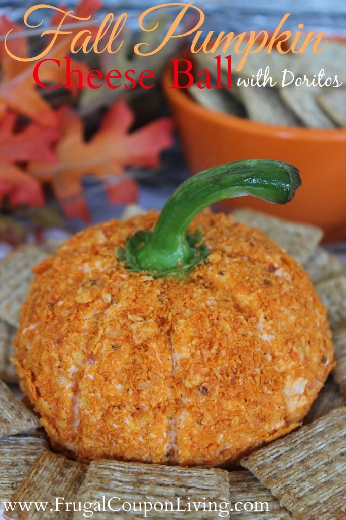Fall-Pumpkin-Cheese-Ball-Frugal-Coupon-Living