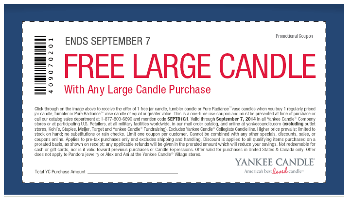 photo relating to Yankee Candle Printable Coupons named Yankee Candle Get 1 Attain 1 Cost-free Printable Coupon Offer