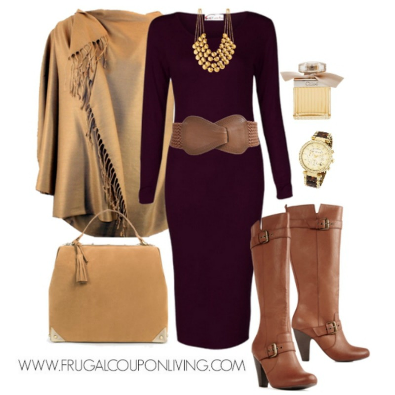 Fall Dress Outfits cranberry fall dress outfit