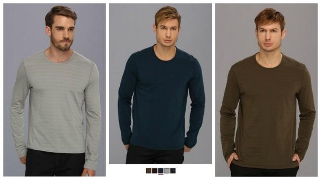 John Varvatos Long Sleeve V-Neck Shirt