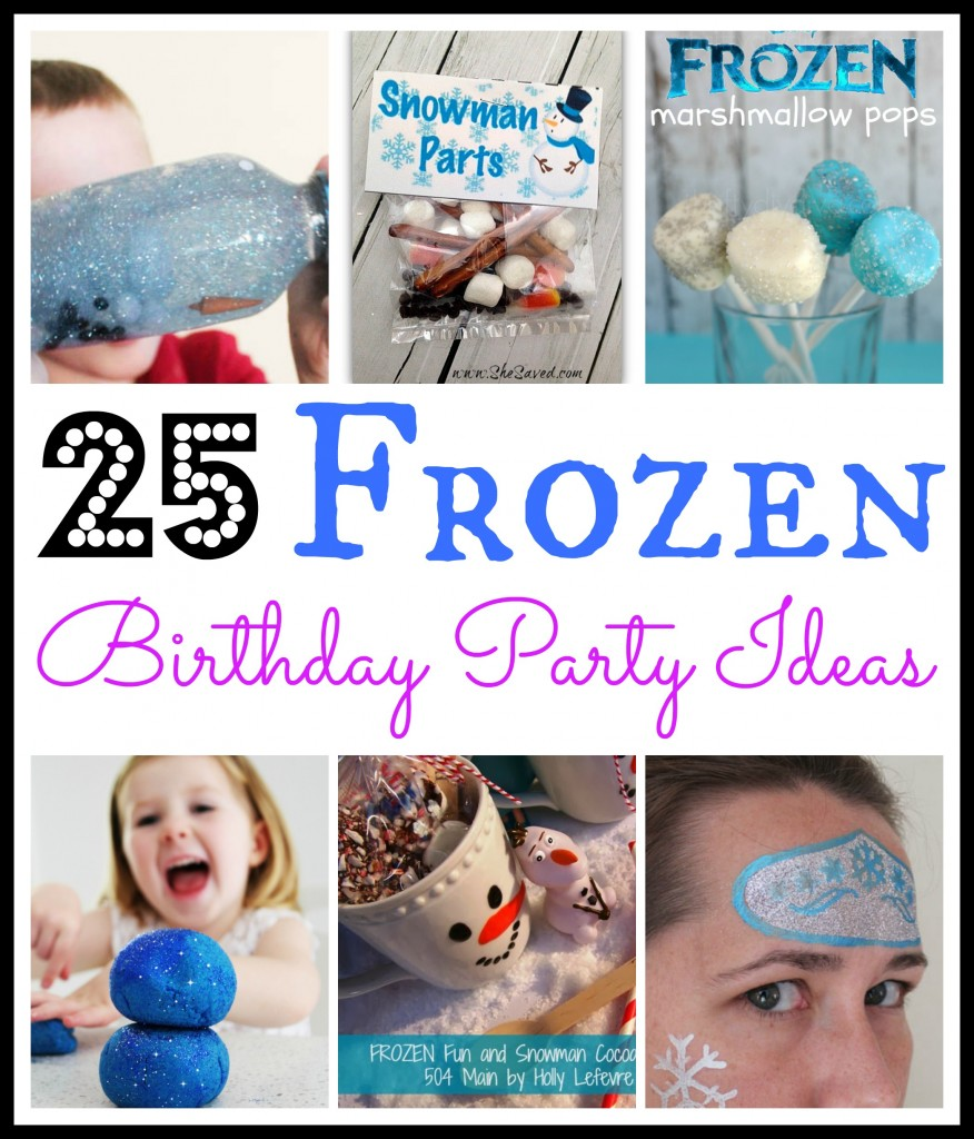 25 Fun Frozen Birthday Party Ideas 1