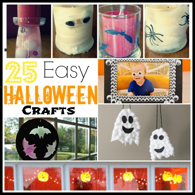 25 easy halloween crafts collage