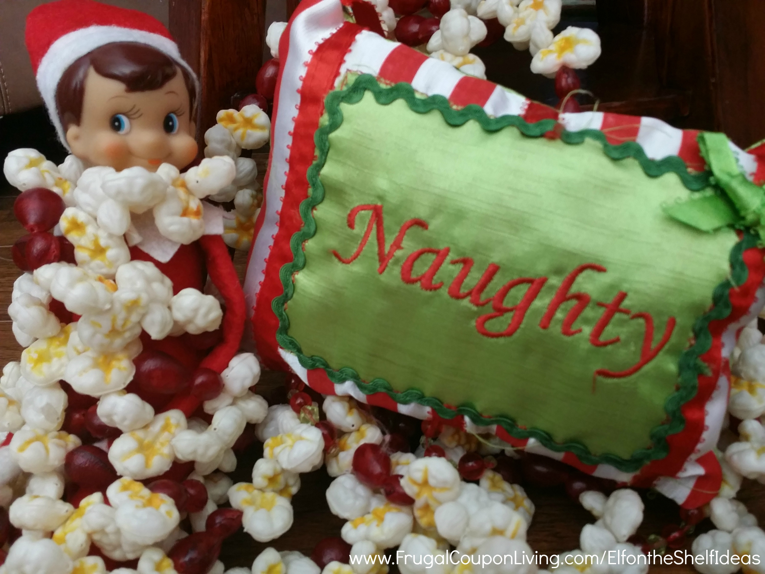 Easy The Elf On The Shelf Ideas Elf Is Tied Up With Garland