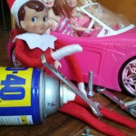 Elf-On-The-Shelf-Ideas-Frugal-Coupon-LIving-barbie-car
