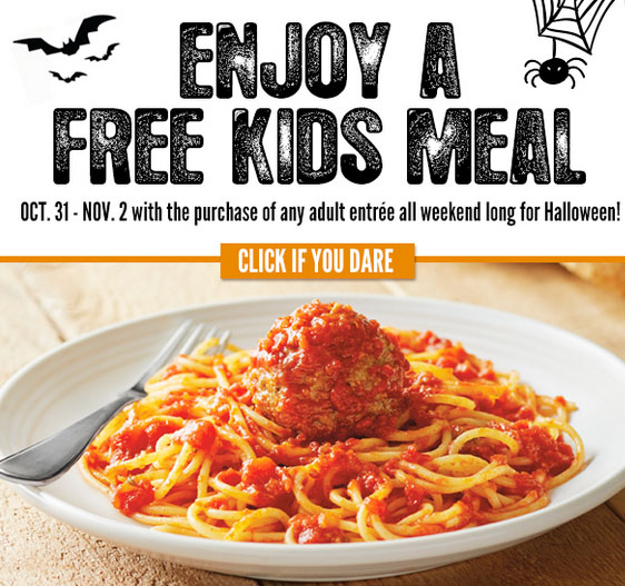 Kids Eat FREE at Carrabba's on Halloween