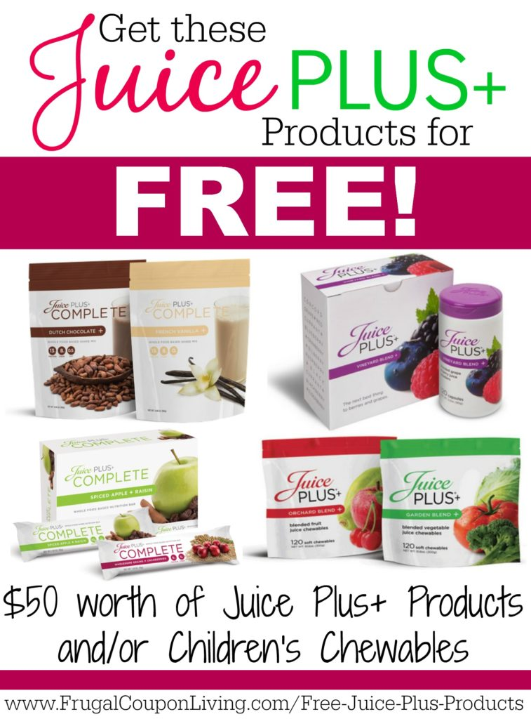 free-juice-plus-products-frugal-coupon-living-pinterest