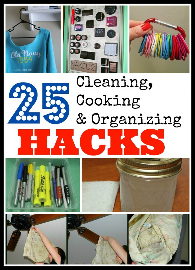 25 household hacks for cooking cleaning and organizing for Household hacks
