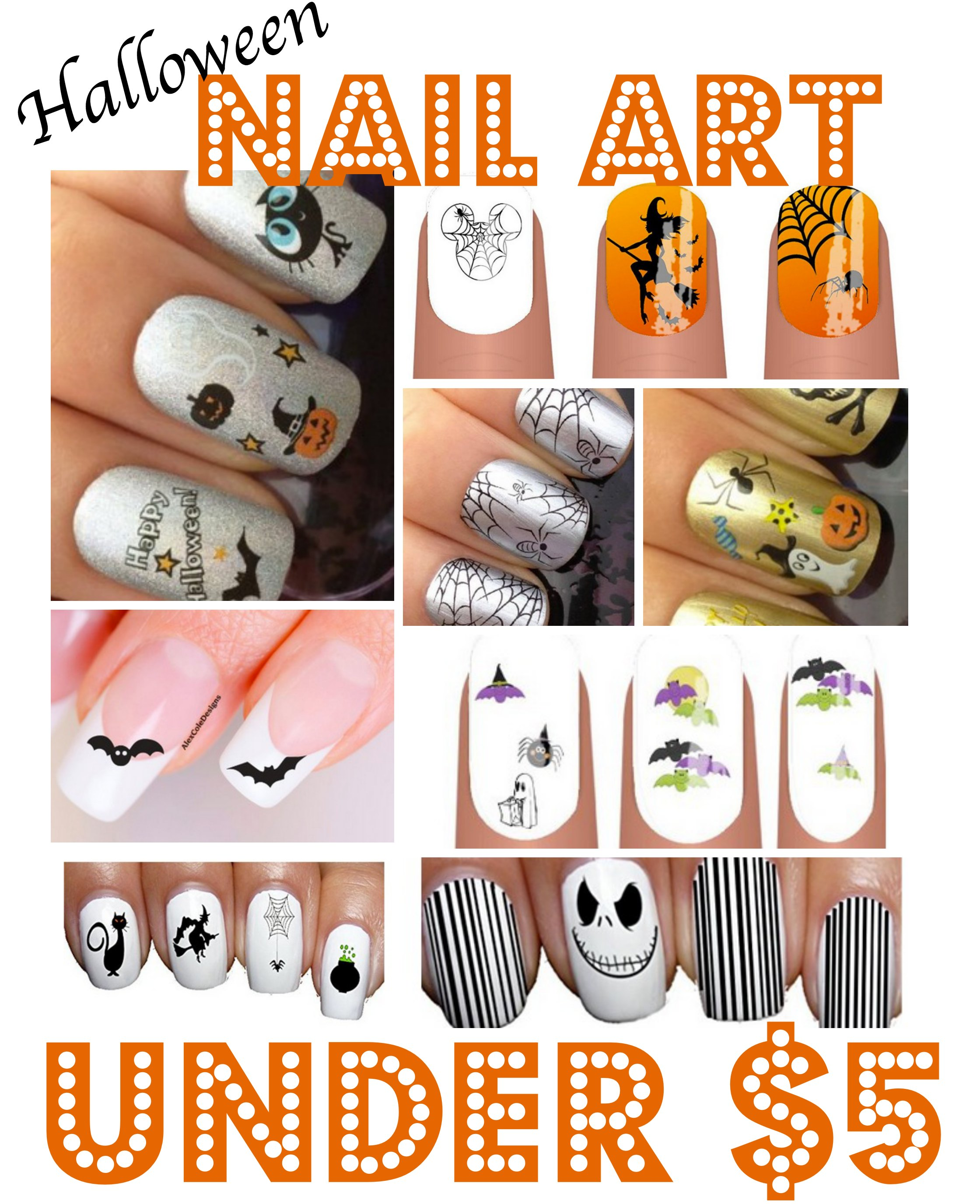 Top 10 Halloween Nail Decals Under $5 Shipped
