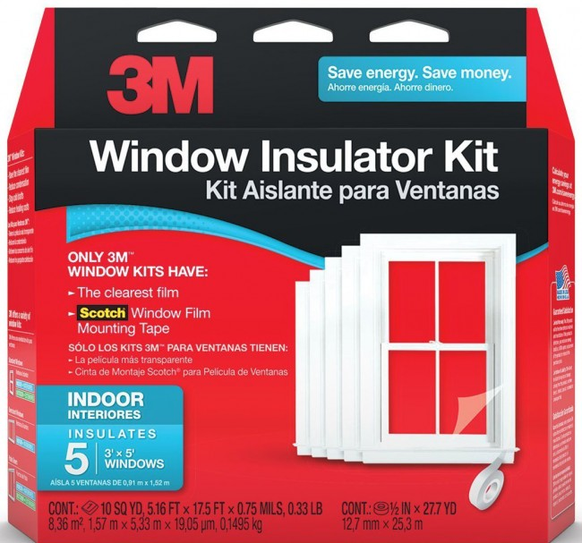 3m indoor window insulator kit for 5 windows for for Window insulation kit
