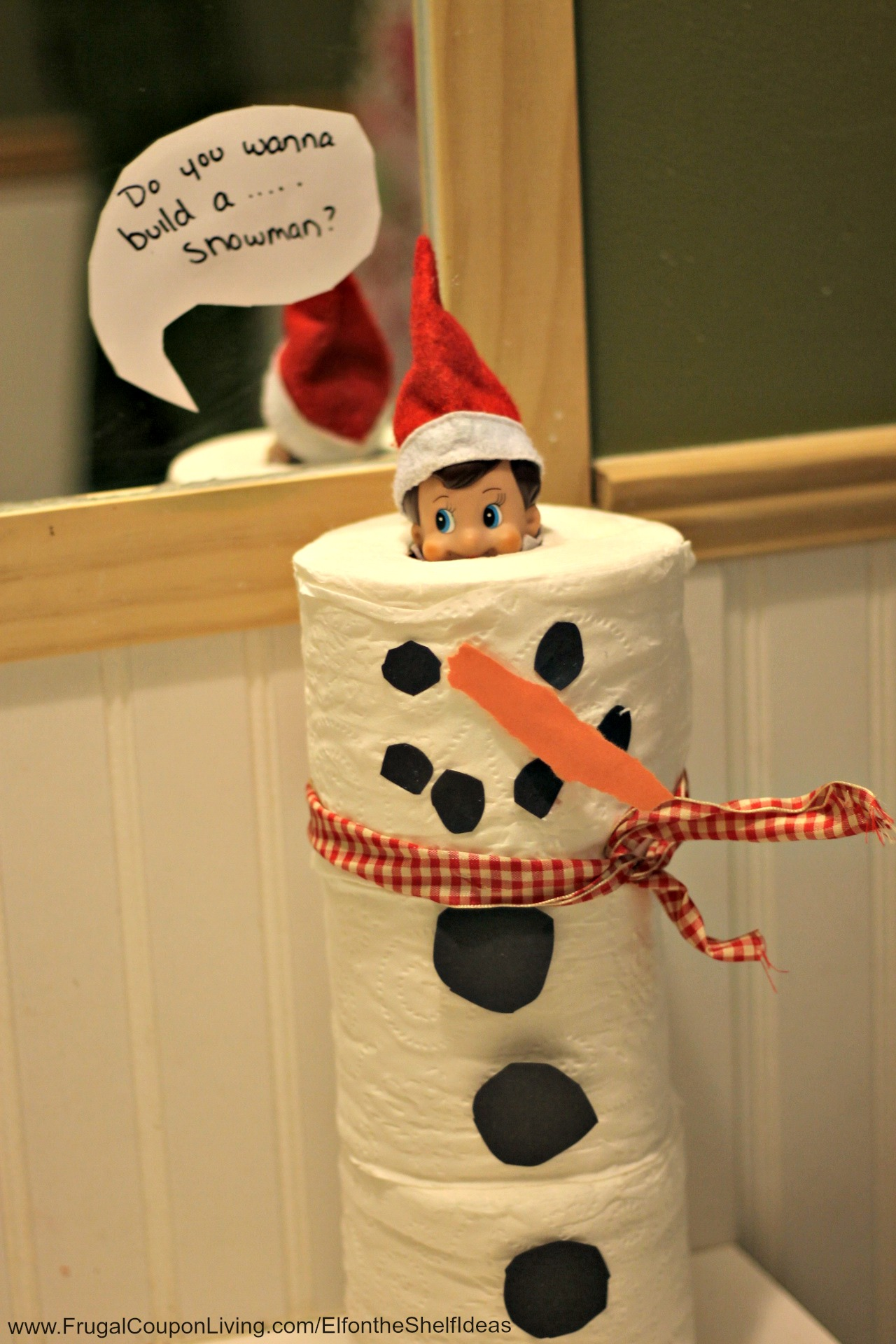Elf on the shelf ideas toilet paper snowman elf for I want to make a snowman