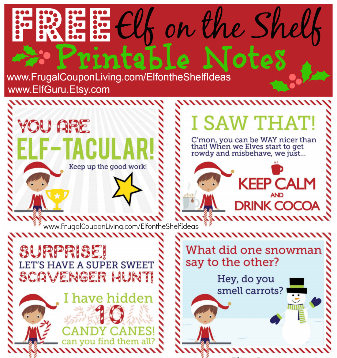 free elf on the shelf notes post image - Christmas Tree Store Coupon