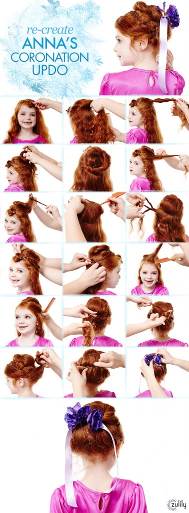 Disney Frozen Hair Tutorials – Elsa's Side Braid