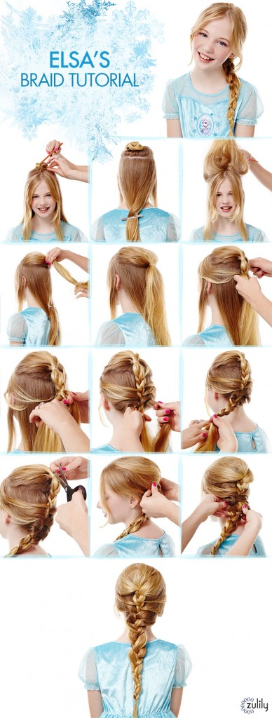 Disney Frozen Hair Tutorials – Anna's Coronation Updo