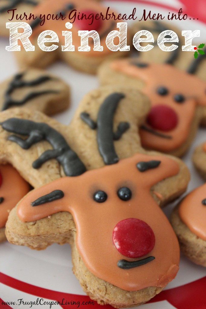 Gingerbread Reindeer Made From Gingerbread Man Cutter
