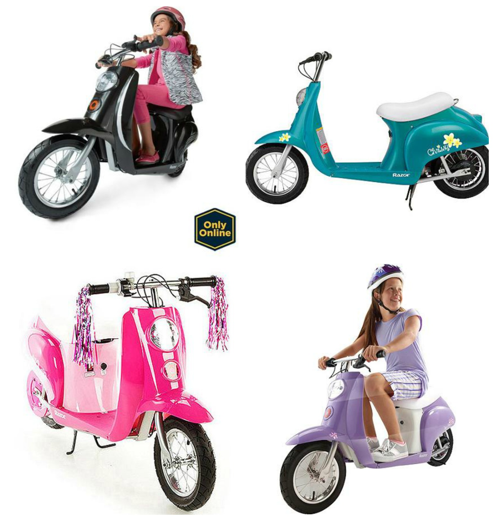 Electric motor scooters for kids