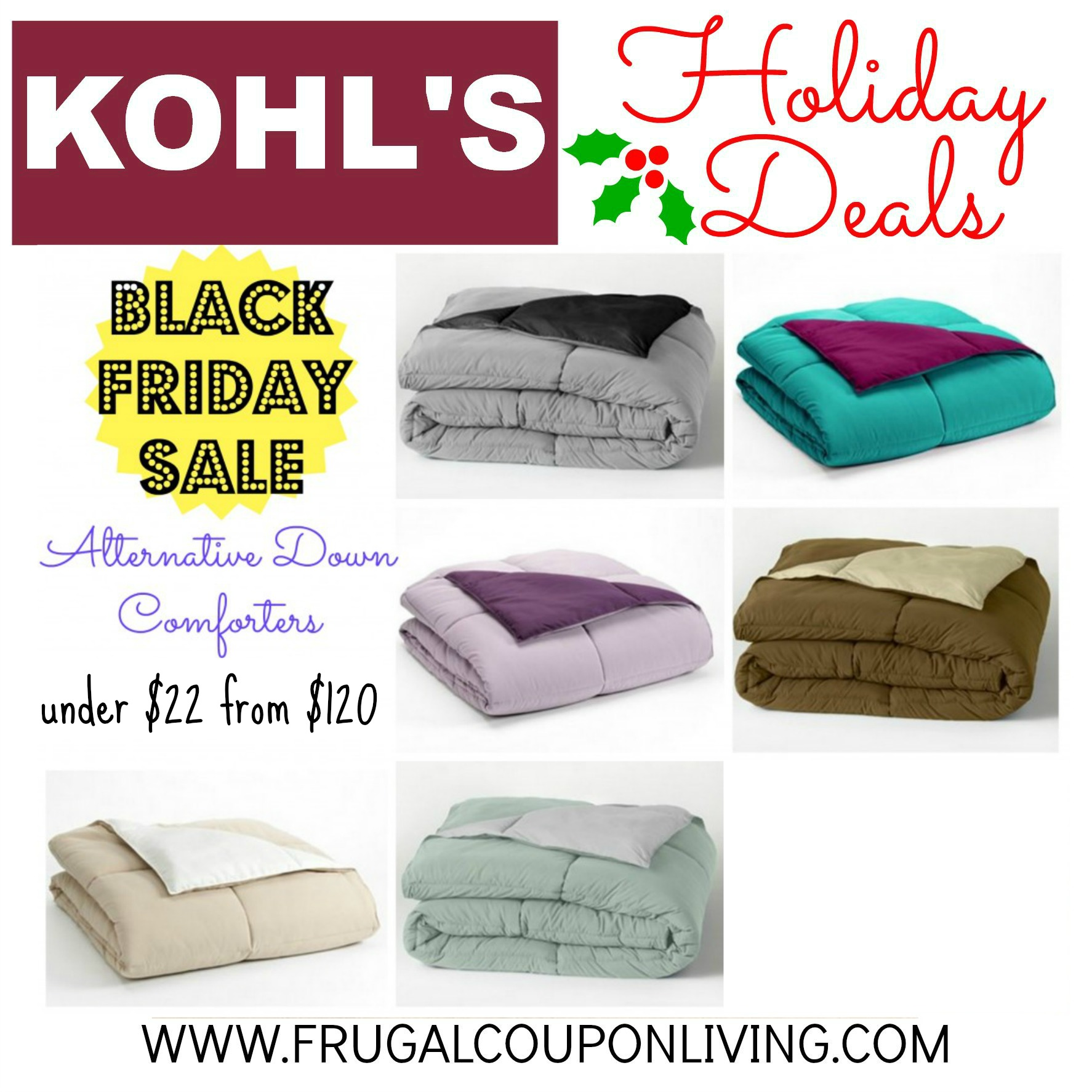 Black Friday Kohl S Alternative Down Comforter 21 24 From