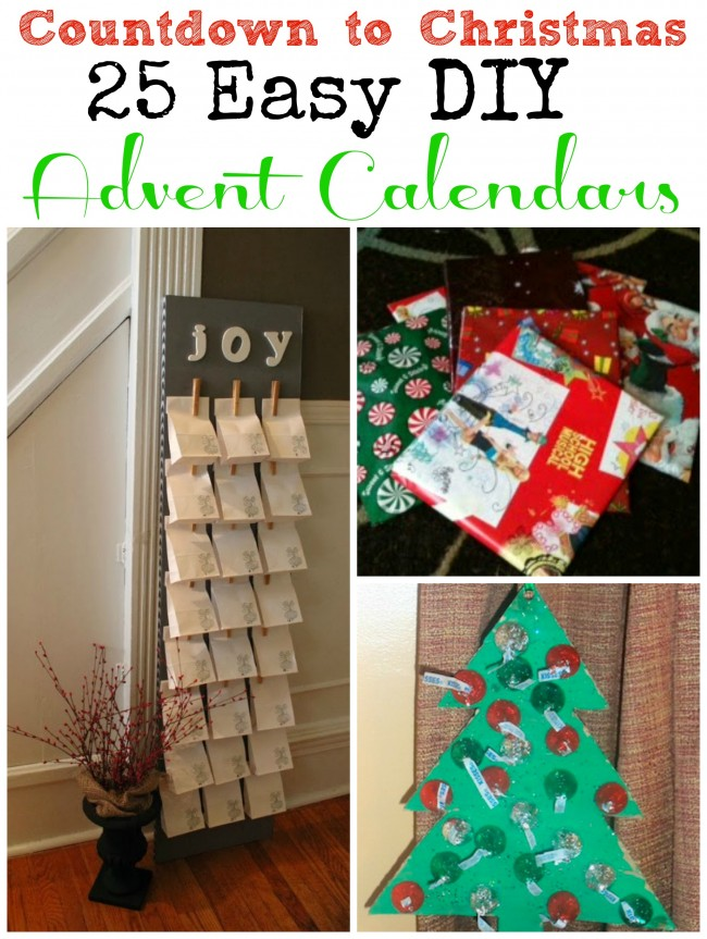 Diy Calendar Countdown : Countdown to christmas diy advent calendars