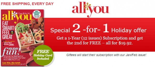 bogo all you magazine subscription
