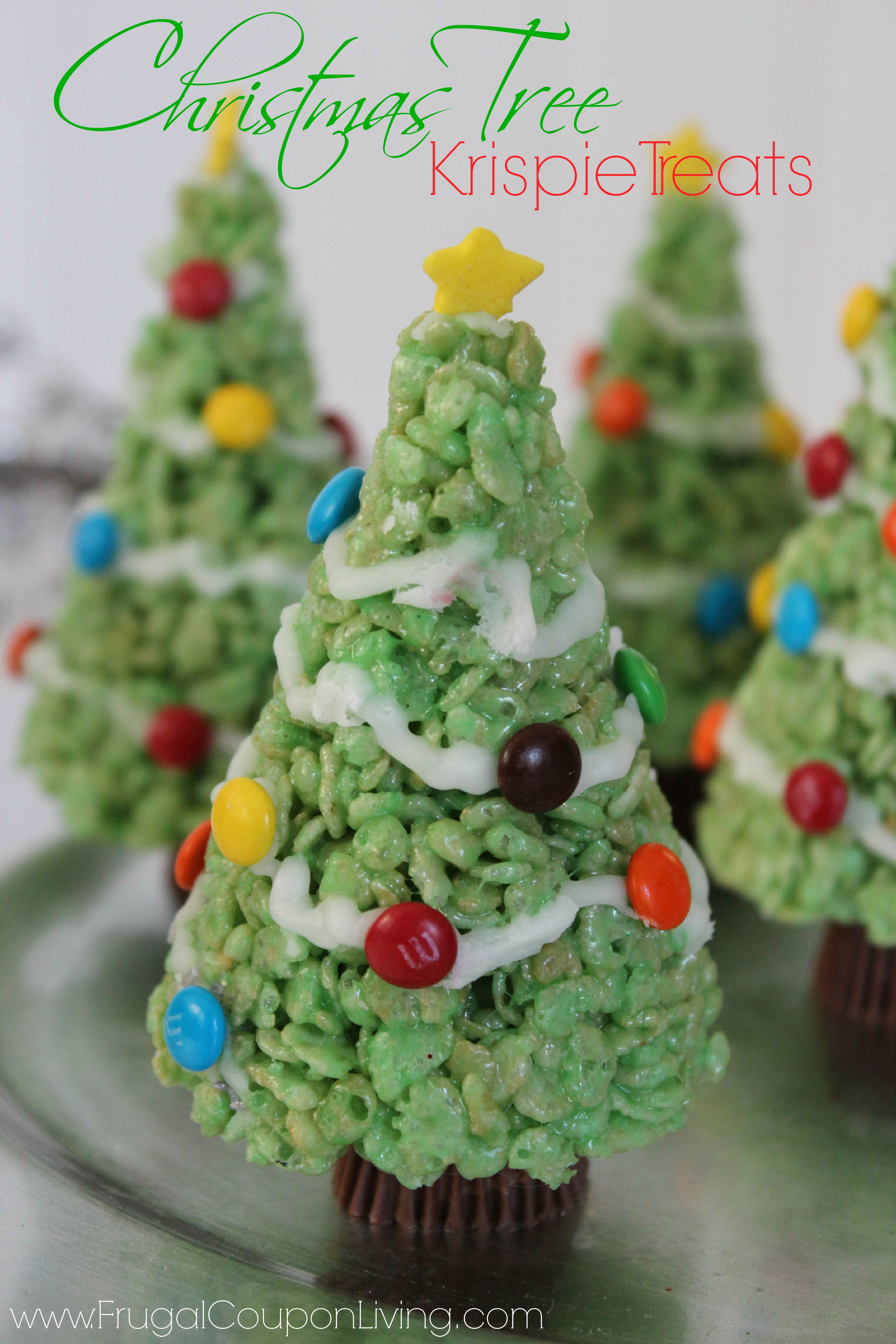 christmas tree rice krispie treats with molding tip