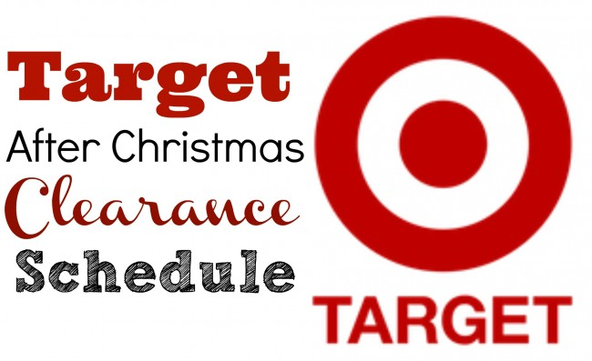 Target After Christmas Clearance Schedule for 2014