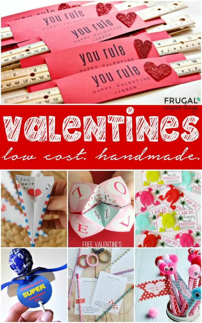 Budget Friendly, Frugal Low Cost Handmade DIY Valentine Crafts for Valentine's Day. #FrugalCouponLiving #frugalliving #frugal #valentines #valentinesday #valentinecrafts #valentinescards #lowcost #love