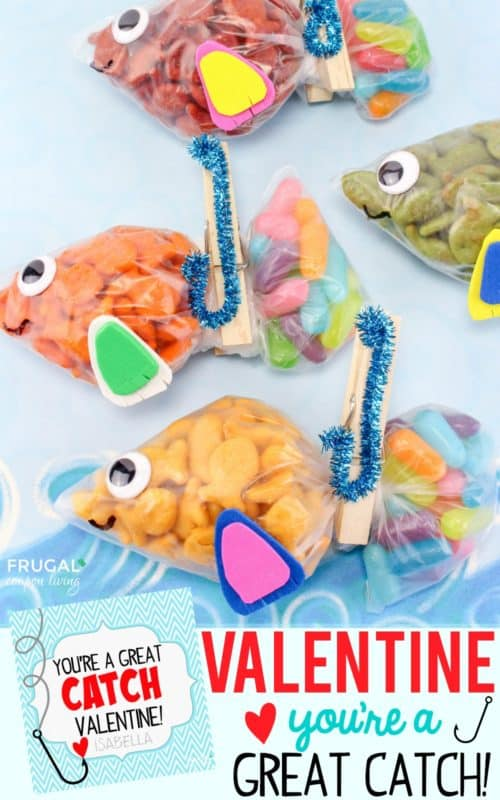 photograph about Goldfish Valentine Printable named 20 Frugal Do-it-yourself Little ones Valentines