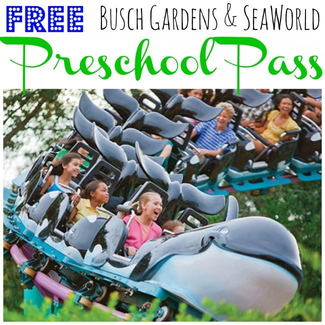Free 2015 Busch Gardens Seaworld Preschool Pass
