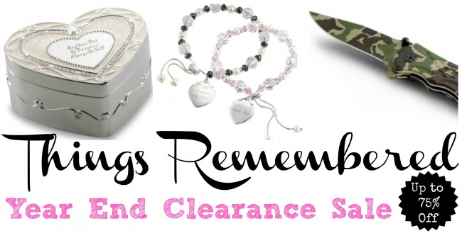 things remembered year end clearance sale 2