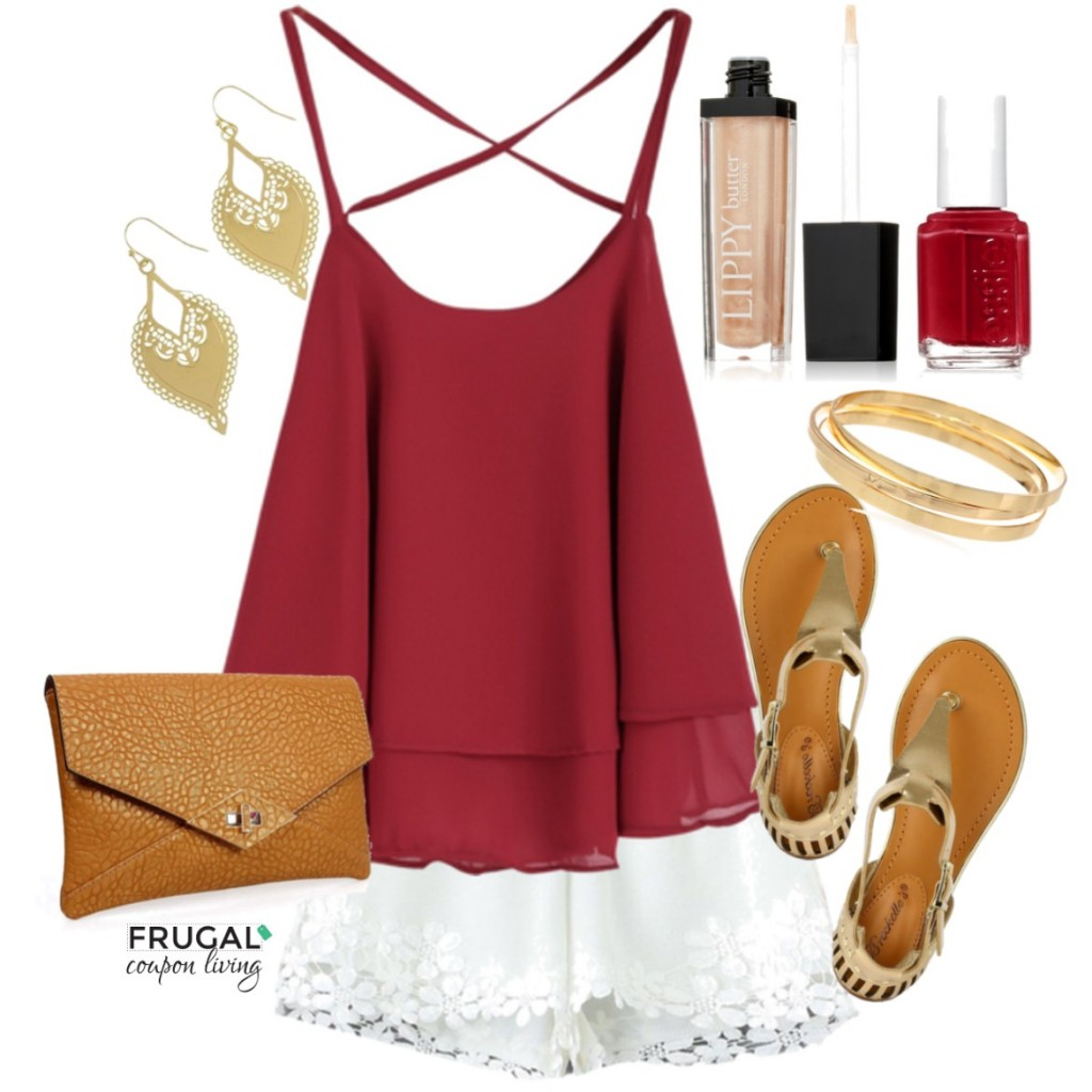 Cranberry-Tank-Lace-Shorts-Outfit-Frugal-Coupon-Living-Frugal-Fashion-Friday