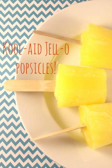 Kool-Aid-Jell-O-Popsicles
