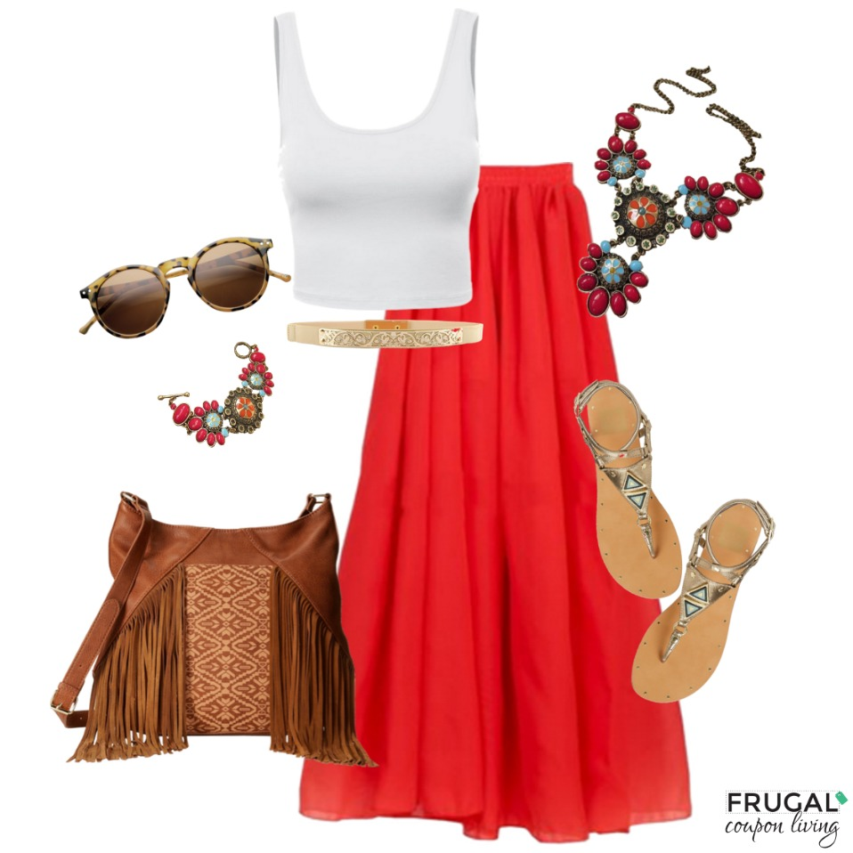 boho-red-skirt-outfit-frugal-fashion-friday-frugal-coupon-living