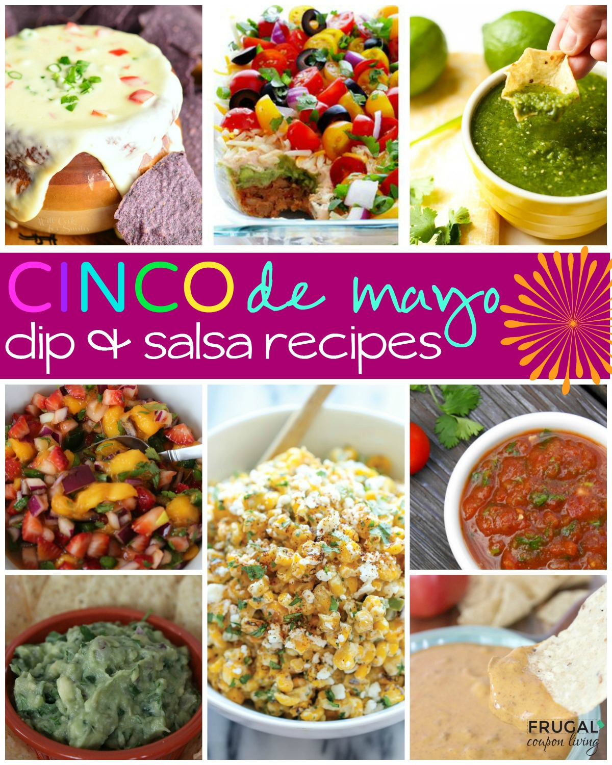 mexican-recipes-salsa-dip-collage-frugal-coupon-living