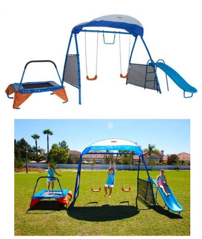 ironkids inspiration fitness playground and swing set only 199