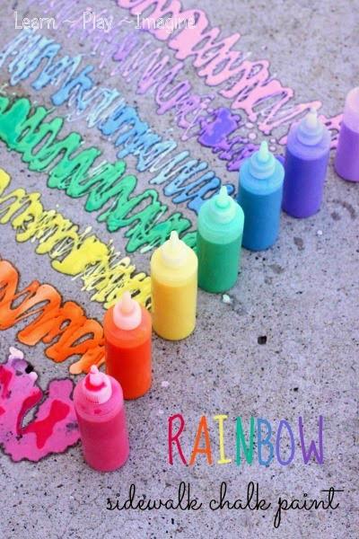 Rainbow Erupting Sidewalk Chalk Paint smaller