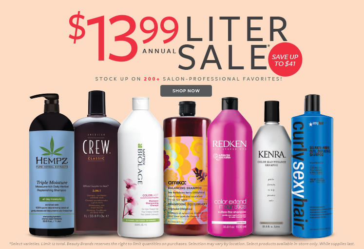 Over 200 Salon Professional Hair Care Only 13 99 Per Liter