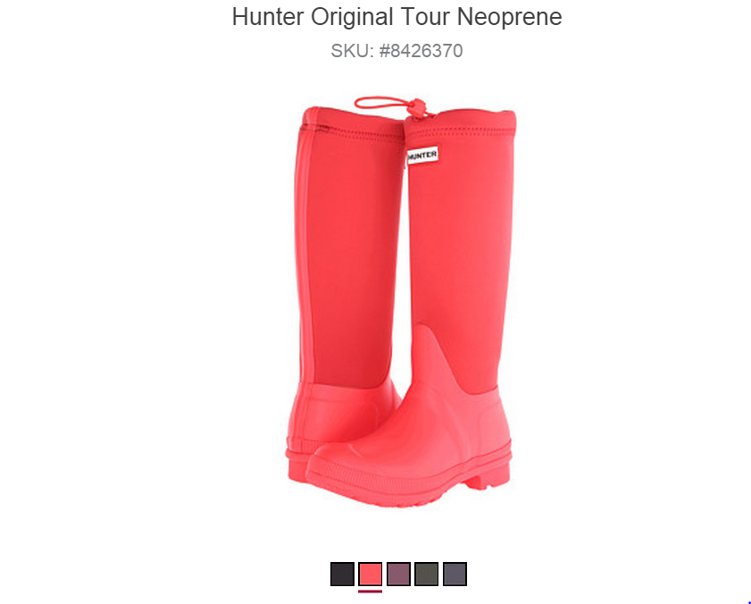 About Hunter Boots US Manufacturers of wellington boots and accessories by Royal appointment. Includes contact information, store locator, and link for online purchase.