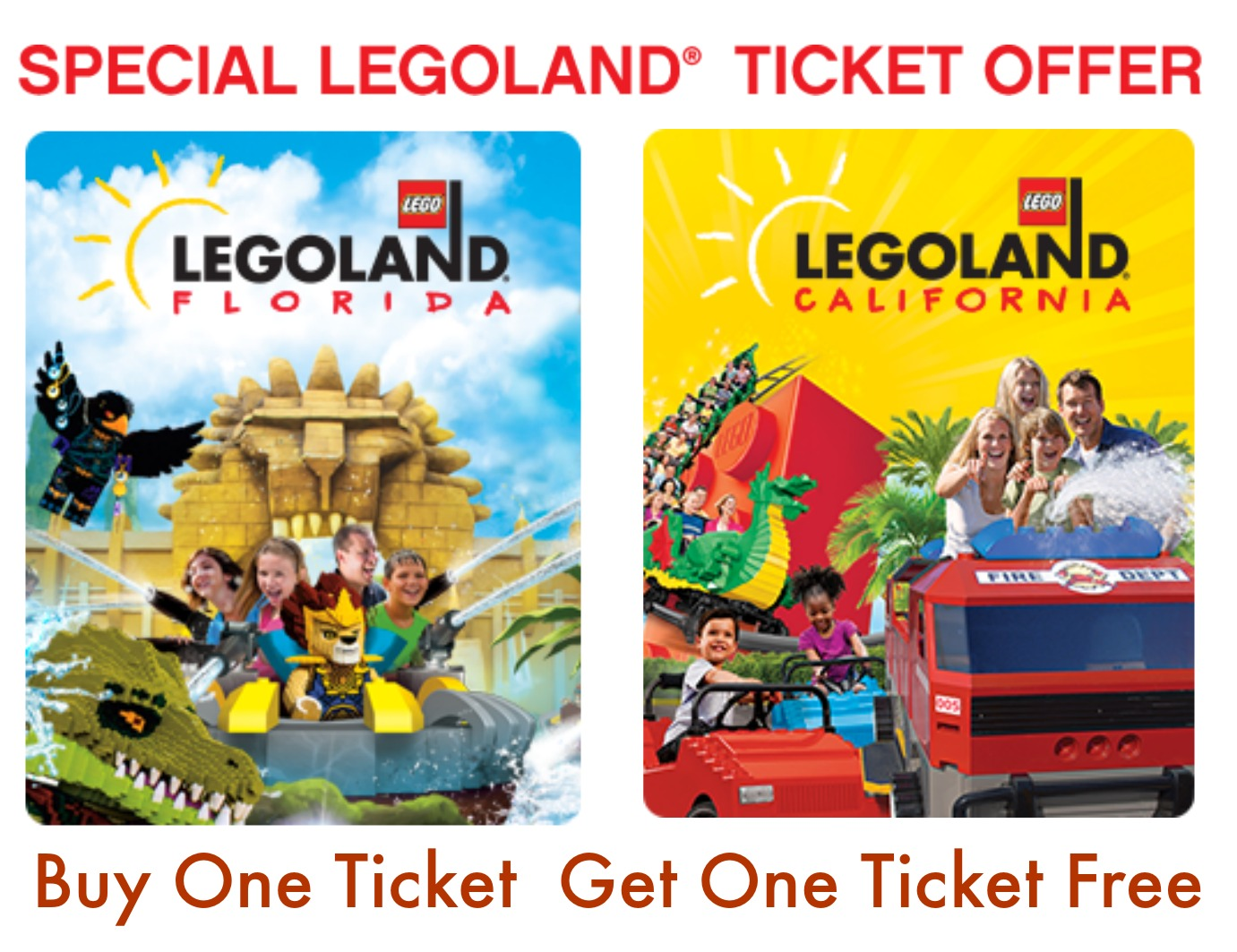 You always get best deals from Legoland, now get Up to 50% Off Admission with Go San Diego Card.