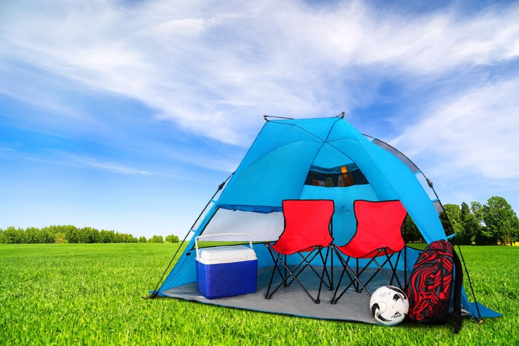 pacific-breeze-easyup-beach-tent & Pacific Breeze EasyUp Beach Tent only $59.99 Shipped! (Reg. $145)