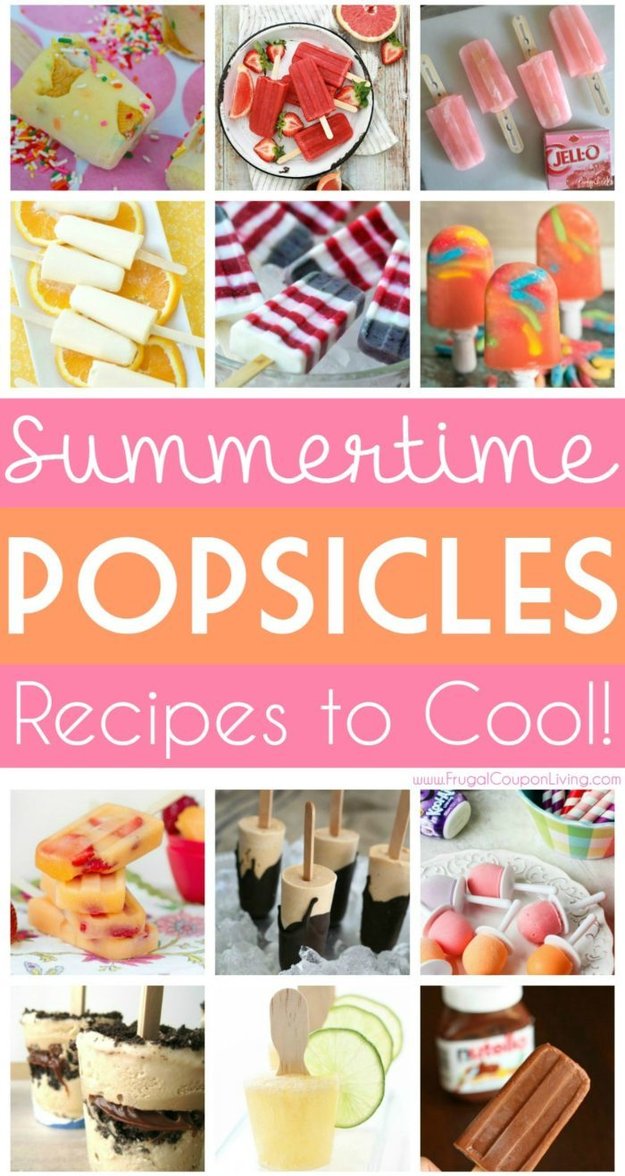 Summertime Popsicle Recipes - Cool Off Your Hot Days! #frugalcouponliving #summer #summerrecipes #popsicles #popsiclerecipes #icepops #icepoprecipes #recipes