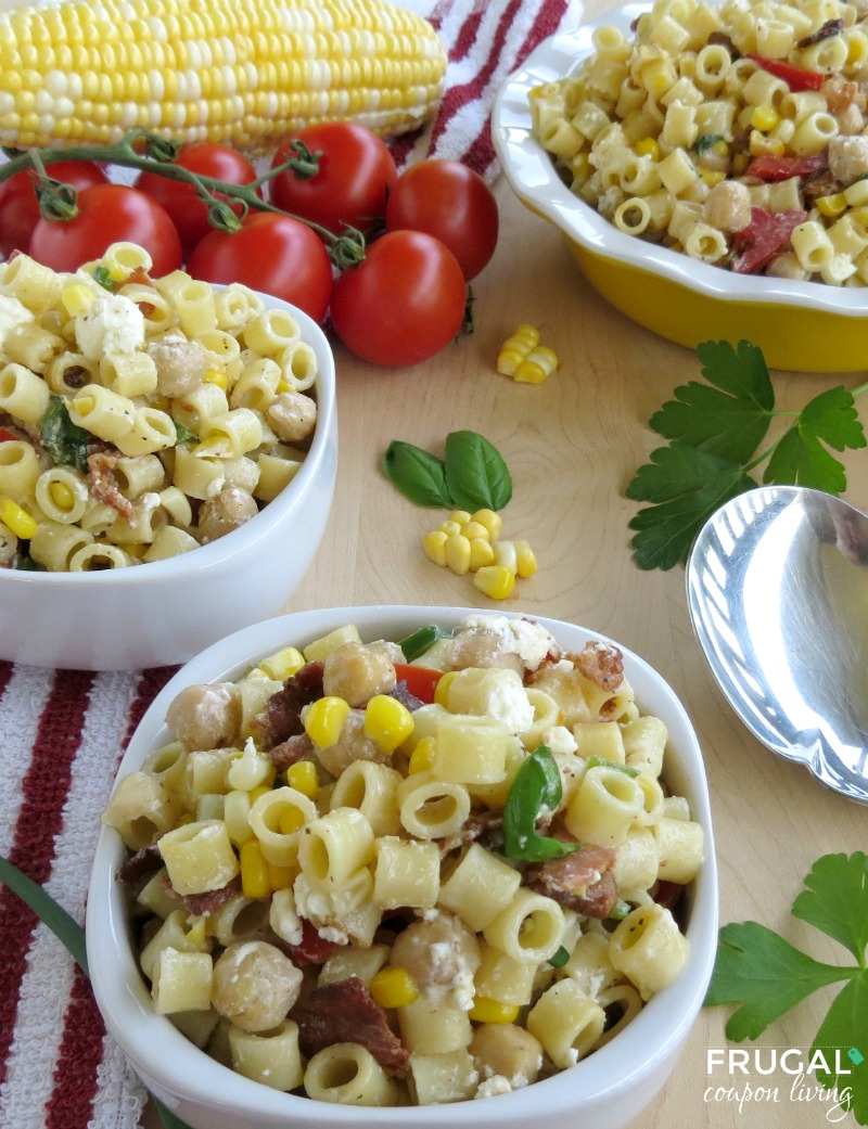 Fresh Corn & Ditalini Salad - Final 1 Frugual Coupon Living smaller