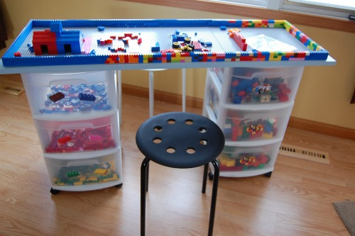 LEGO table and storage smaller