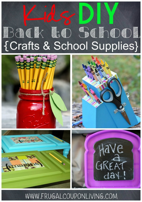 Kids DIY Back to School Crafts & School Supplies