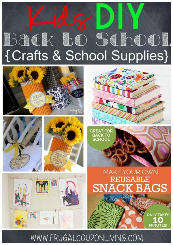 Kids Diy Back To School Crafts School Supplies