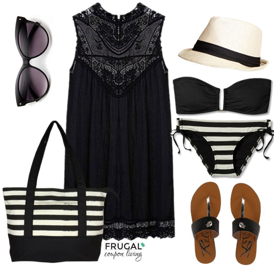 black-swim-suit-outfit-and-lace-dress-frugal-coupon-living-frugal-fashion-friday