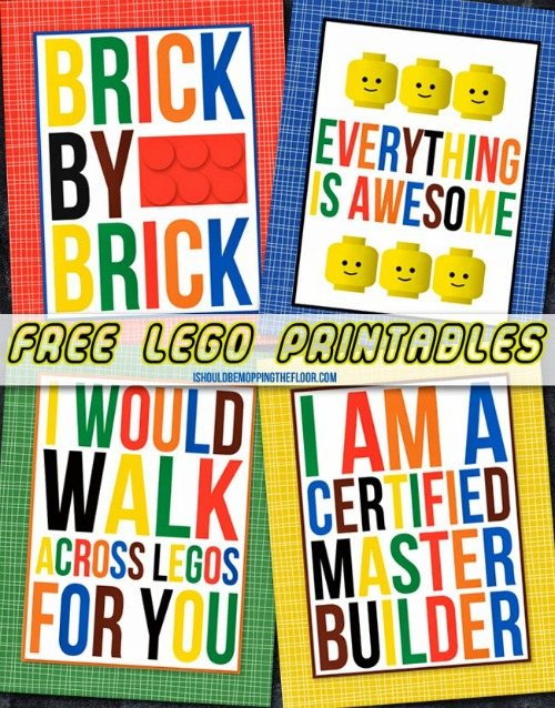 free lego printables smaller