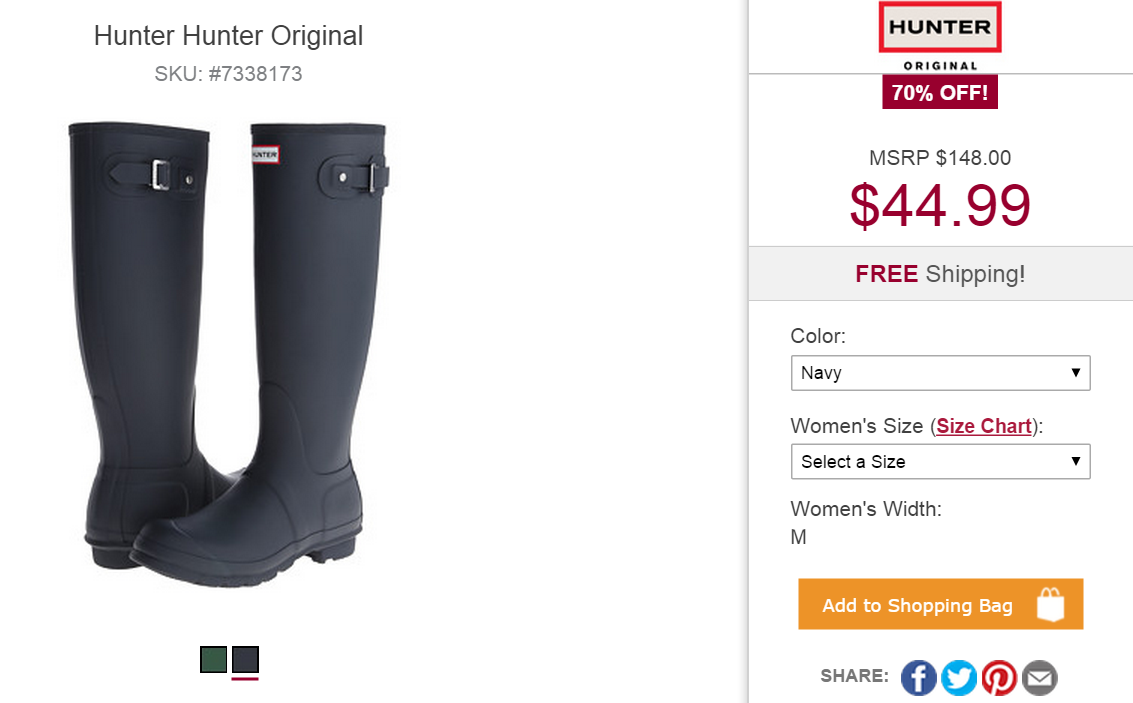 Hunter Womens Original Sissinghurst Short Boot Offer: Free 2-day shipping for all Prime members.