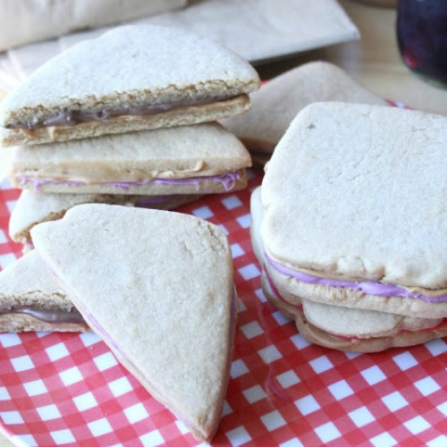 PB & J sandwich cookies smaller